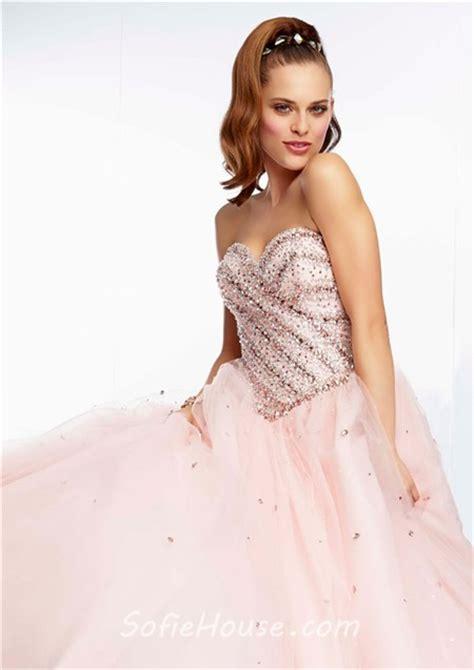 light blush pink dress ball gown strapless sweetheart long light blush pink tulle