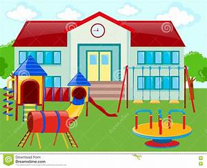 playground at a school clipart - Clipground