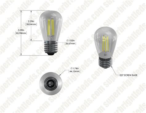 led vintage light bulb s14 led sign bulb w filament led