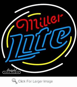 Miller Lite Logo Neon Beer Sign only $229 00 Signs M
