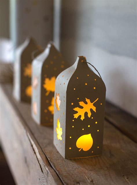 lanterne papier faire soi meme automne accueil design et mobilier