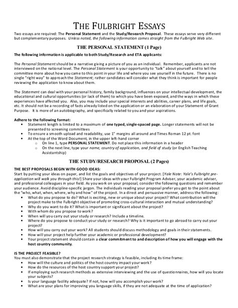 28 fulbright essay sles sle statement for