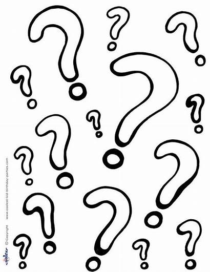 Question Coloring Mark Printable Questions Marks Printables