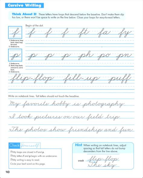 zaner bloser cursive handwriting practice worksheets free