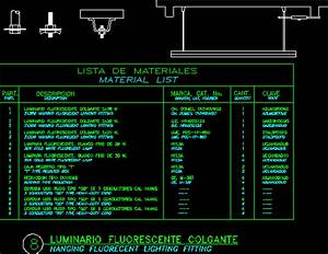 Hanging Fluorescent Light DWG Detail for AutoCAD • Designs CAD