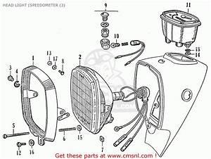 Honda Ca95 Benly Usa  1320003  Head Light  Speedometer  3