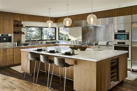 cuisine bois contemporaine maison bois et contemporaine par marmol radziner