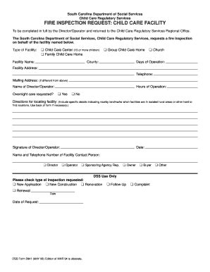 sc dss child care forms dss form 2941pdffillercom fill online printable