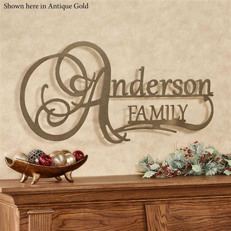 affinity family personalized metal wall art sign  jasonw studios