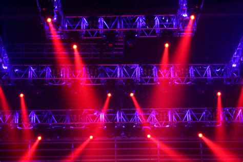red stage lights photo  freeimagescom
