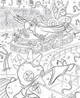 Carnaval Coloring Colorear Rio Plataformas Colorare Karneval Carnival Dibujo Carnevale Malvorlagen Disegni Formes Plates Dibujos Colorkid Mono Kleurplaat Plattformen Piattaforme sketch template