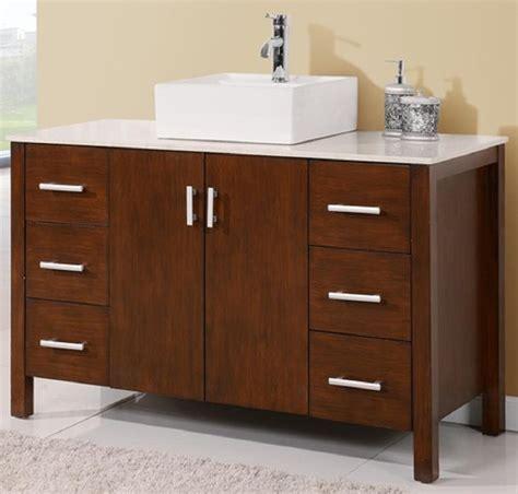 Bathroom Vanity 48 Inch Sink by 48 Inch Bathroom Vanity Vessel Sink Top Style Walnut Color