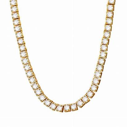 Chain Cubic Iced Tennis Simulated Bling Aaa