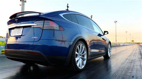 Stock 2016 Tesla Model X P90d Ludicrous 1/4 Mile Drag