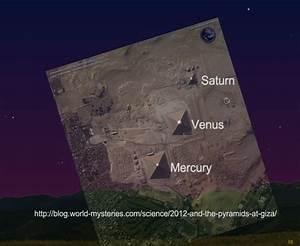 Alinhamento planetário com as Pirâmides do Egito em 03 de ...