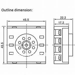 relay base 8pins relay socket 8 pins round pin socket lp3g With 5 pin relay sockets