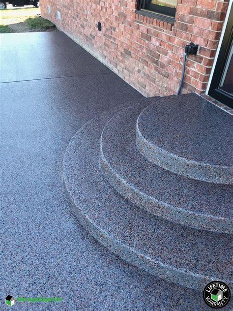 residential patio epoxy flooring  republic mo garage