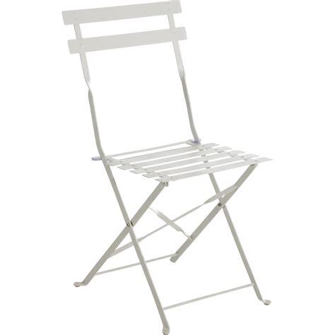 chaise de jardin en acier flore blanc leroy merlin