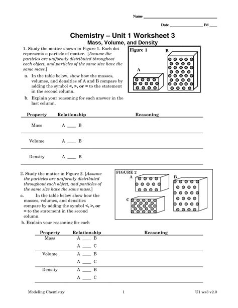 9 Best Images Of Chemistry Worksheet Matter 1 Answer Key  Chemistry Worksheets With Answer Key