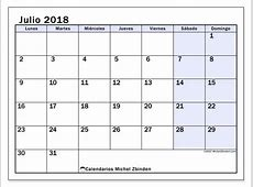 Calendarios julio 2018 LD Michel Zbinden ES