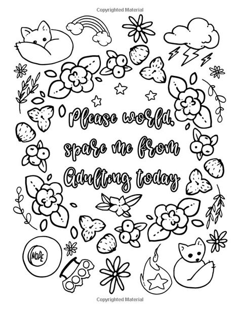 The Almost Adulting Book of Coloring: 30 Funny Quotes