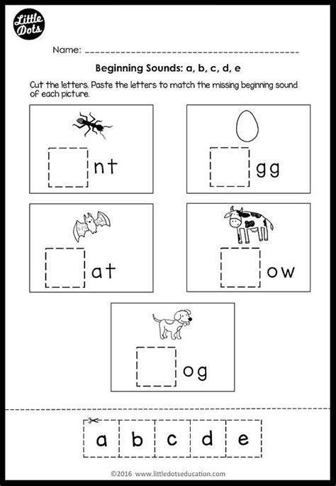 beginning sounds worksheets  activities  images