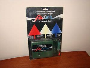 vintage foremost magical christmas light fader control box