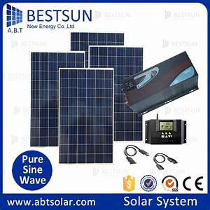 Complete Portable Solar Power System With Battery And