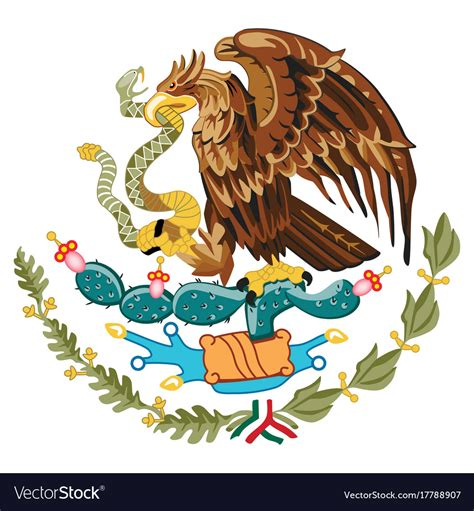 Coat of arms mexico Royalty Free Vector Image - VectorStock