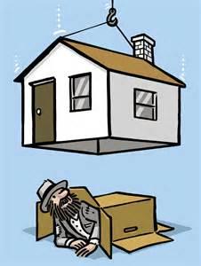 House Image Cartoon Homeless People