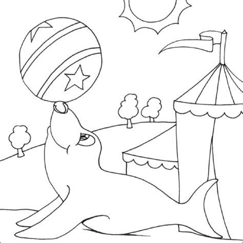 circus seal colouring