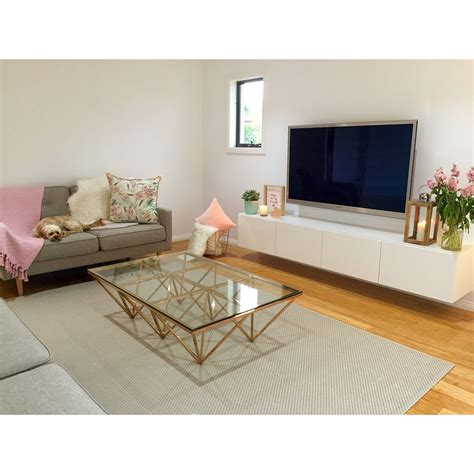 Living Room L Stands by Contemporary Scandinavian Decor Copper Coffee Table