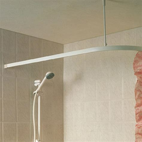 showerdrape showertrack angle shower curtain rail 30 x 66 quot