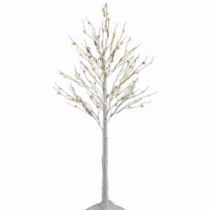 proHT 8 ft 3-Watt Birch Tree with 132 Warm LED Lights