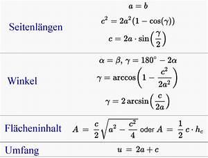 Geometrie Winkel Berechnen : gleichschenkliges dreieck archives ~ Themetempest.com Abrechnung