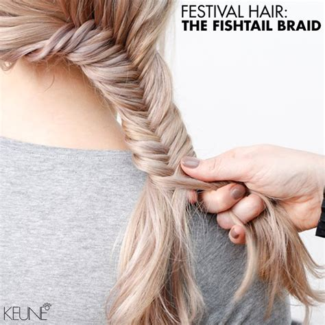 festival hair  fishtail braid bangstyle house