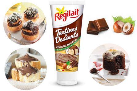 regilait recettes cuisine le chocolat noisettes de régilait met les tartines et les