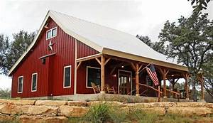 country barn home kit w open porch 9 pictures metal With barn style metal building kits