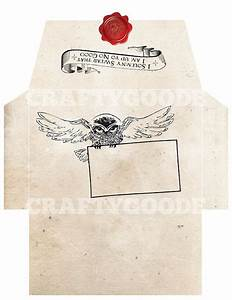 harry potter themed envelope diy printable harry With harry potter envelope template