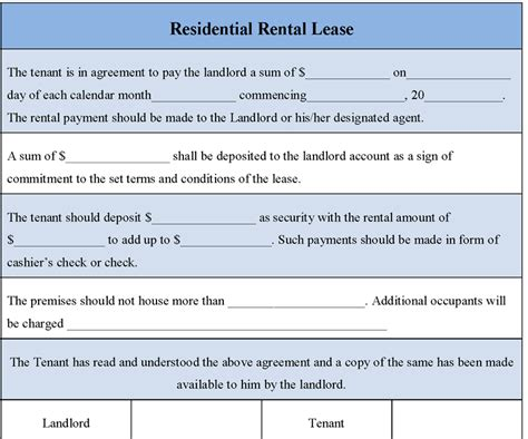6 Free Rental Agreement Templates