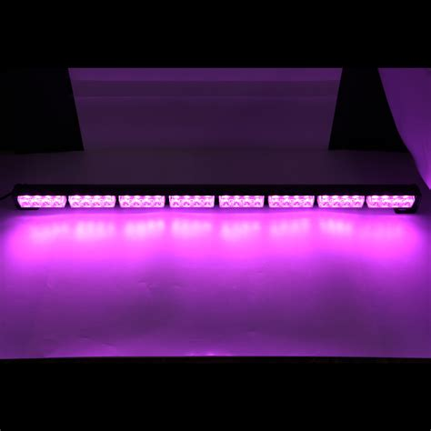 purple led light bar 35 quot 36 quot 32 led car emergency warning traffic advisor flash