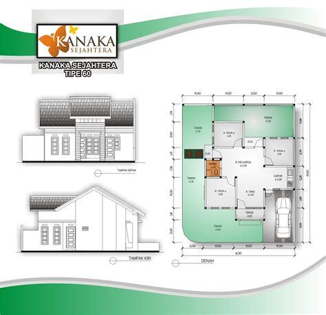 gambar sketsa denah rumah ukuran  meter  kamar