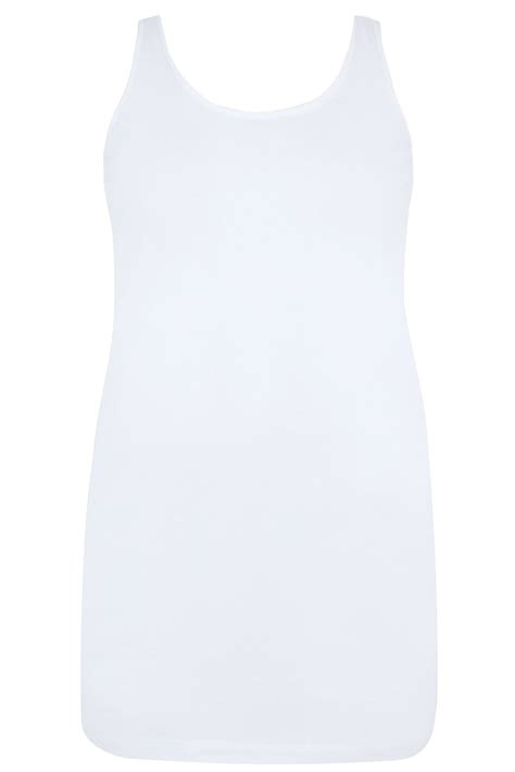Plus Size White Longline Vest Sizes 16 To 36 Yours