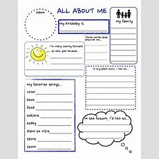 All About Me Worksheet Free Pdf The Best Worksheets Image Collection  Download And Share Worksheets