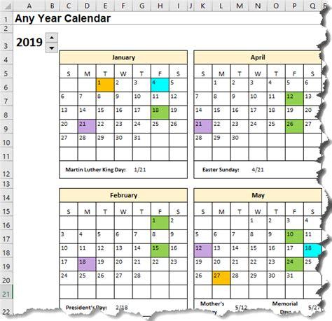 excel calendar template date formulas explained