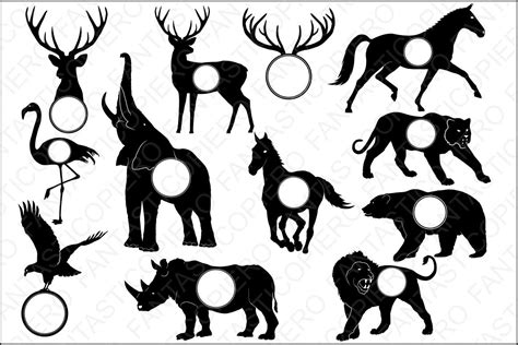 Cow you will receive the following high quality files in a zip format: Animals for Monogram SVG files for Silhouette Cameo and ...