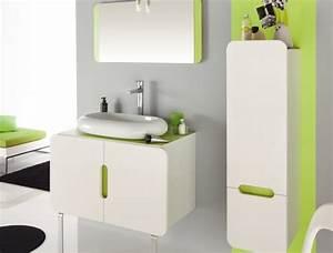 ambiances salle de bain trouver des idees de decoration With salle de bain vert anis