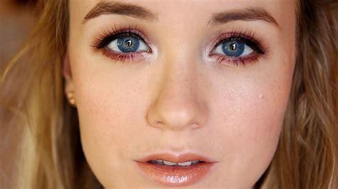 winter cranberry makeup tutorial making blue eyes pop youtube