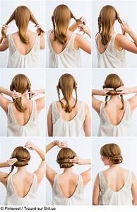 Coiffure Simple Femme : notre top 3 des tutos de chignons faciles faire soi m me hair hair hair styles et step by ~ Melissatoandfro.com Idées de Décoration