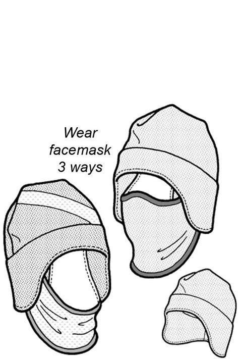 tuck  balaclava pattern hat patterns  sew
